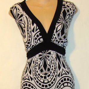 EN FOCUS WOMEN PLUS BLACK WHITE MAXI DRESS SZ 14W